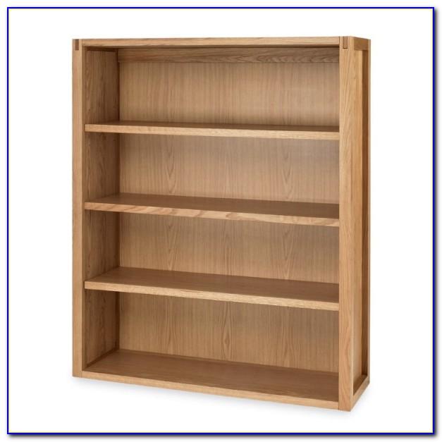 Wide Oak Bookshelf