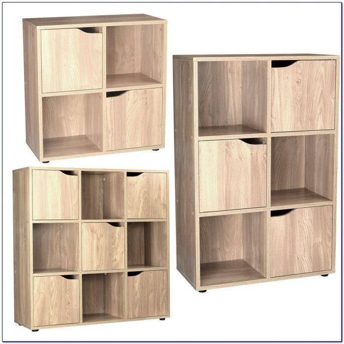 Wood Cube Bookcase