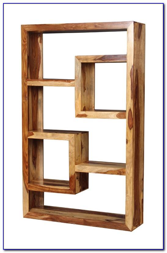Wooden Cube Bookshelf