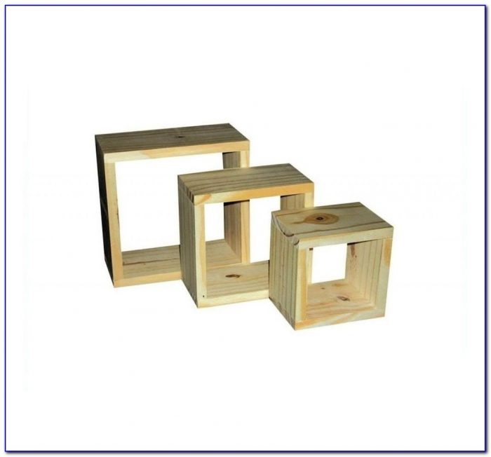 Wooden Cube Bookshelves