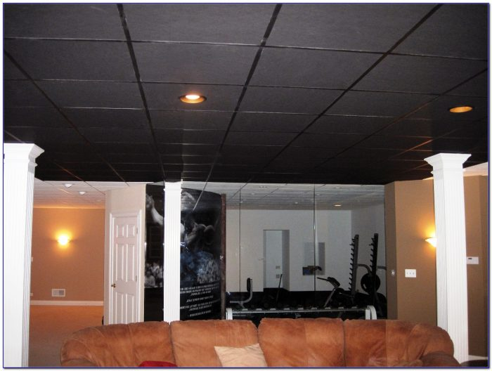 Armstrong Black Acoustic Ceiling Tiles