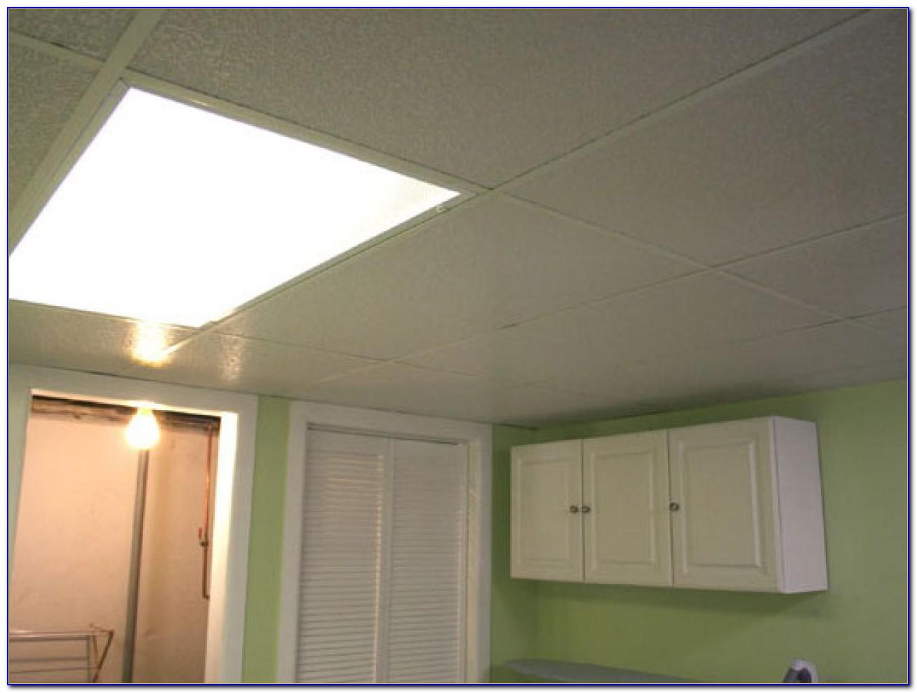 Basement Lighting Ideas Drop Ceiling