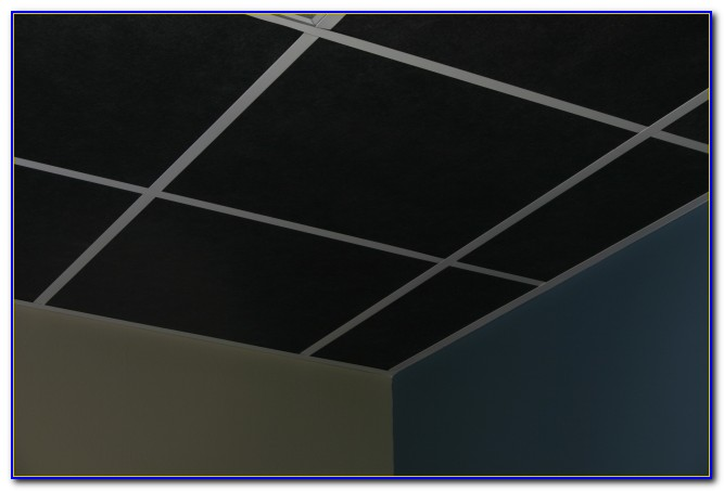Black Acoustic Ceiling Tiles 2x4