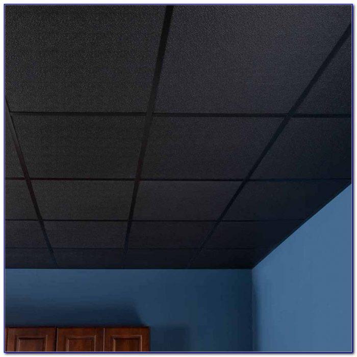 Black Acoustic Drop Ceiling Tiles