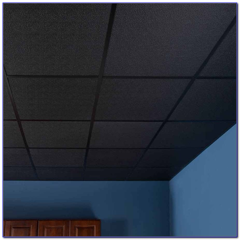 Black Acoustic Drop Ceiling Tiles