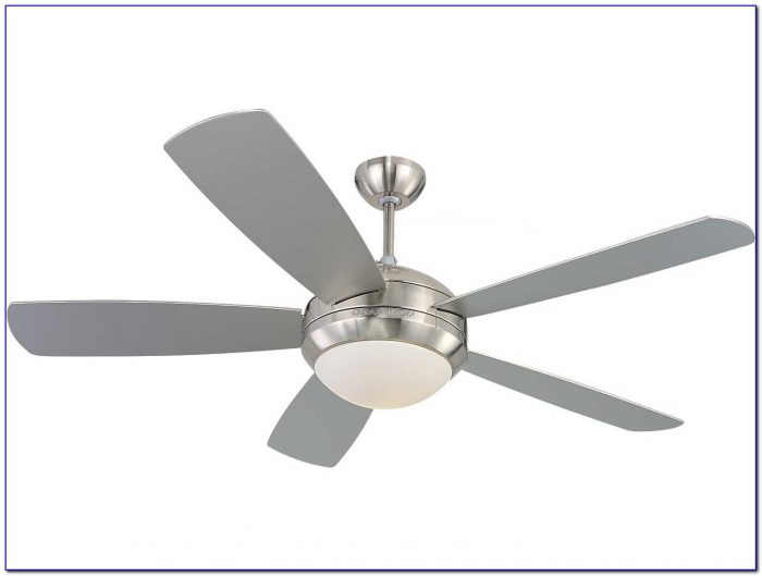 Brushed Steel Ceiling Fan With Light