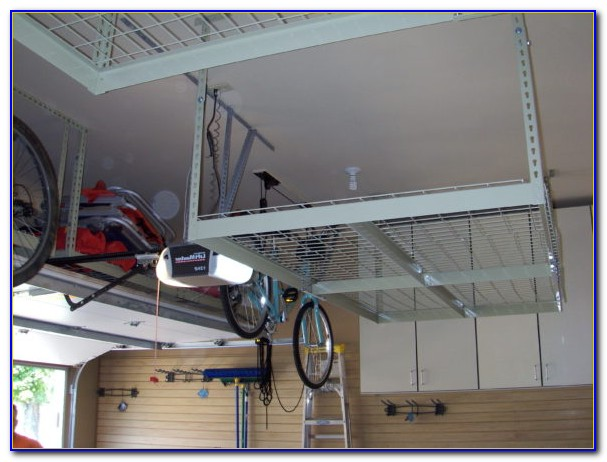 Build Garage Ceiling Storage Rack
