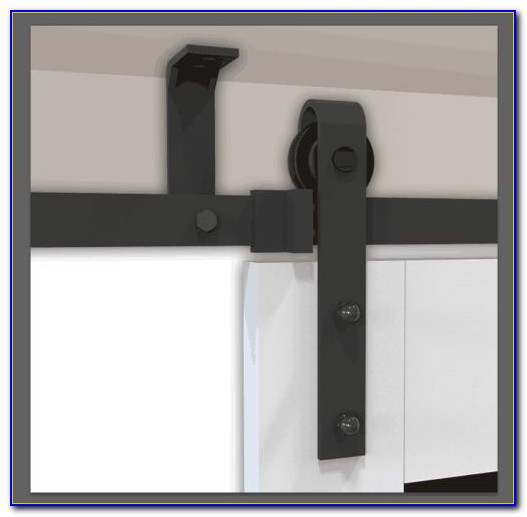 Ceiling Mounted Barn Door Track System Ceiling Home