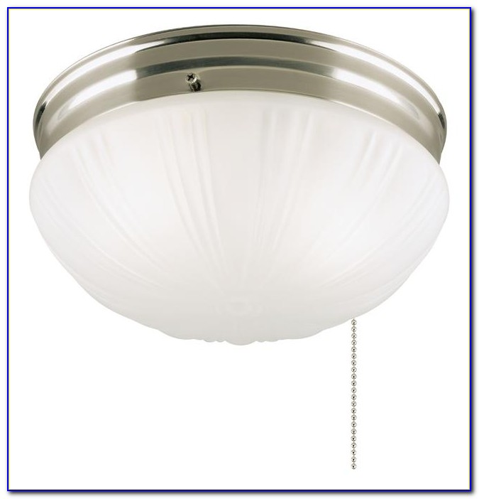 Ceiling Mount Light Fixture With Pull Chain