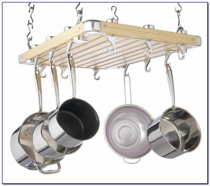 Ceiling Mount Pot Rack With Lights