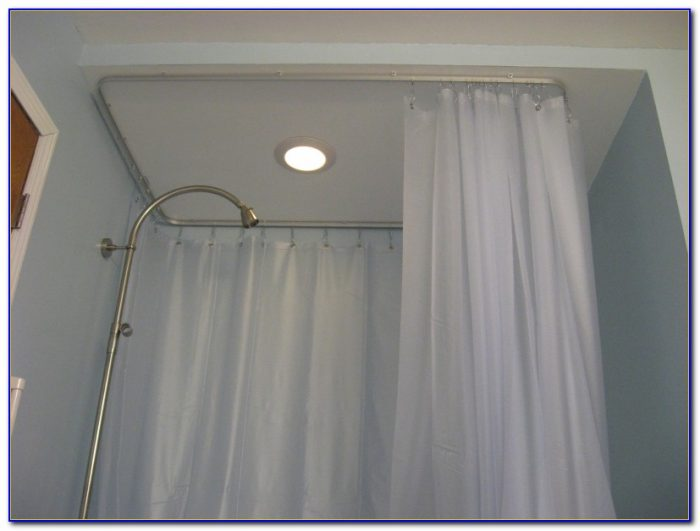 Ceiling Mounted Curved Shower Curtain Track