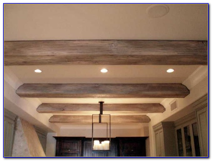 Faux Beams On Vaulted Ceiling