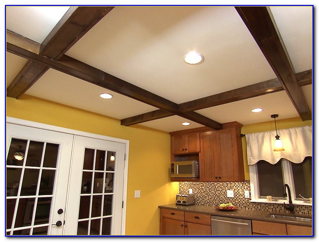 Faux Wood Ceiling Beams Diy