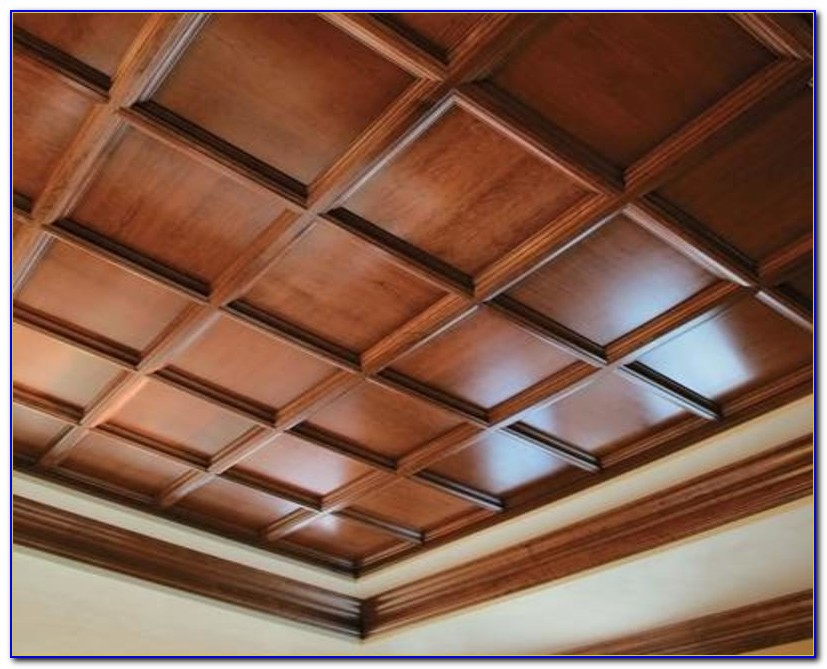Faux Wood Ceiling Panels
