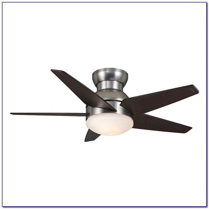 Flush Mounted Ceiling Fan With Light