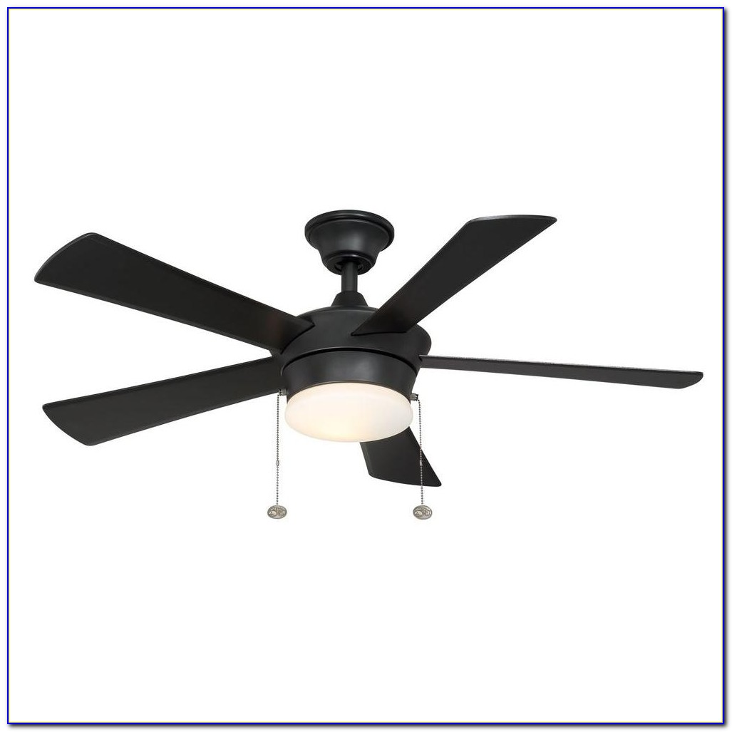 Hampton Bay 60 Industrial Ceiling Fan Black