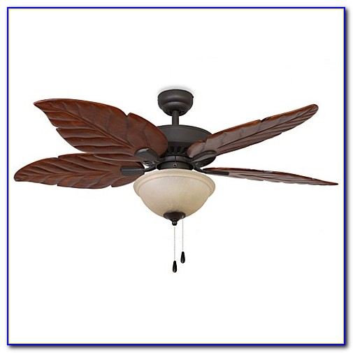 Hampton Bay Ceiling Fan With Leaf Blades