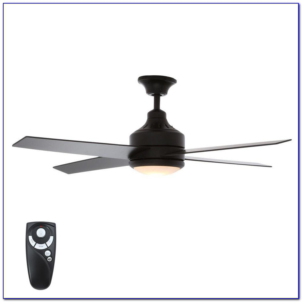 Hampton Bay Lyndhurst 52 In. Matte Black Ceiling Fan