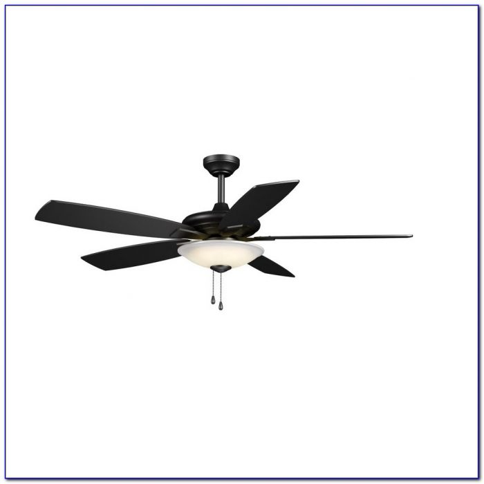 Hampton Bay Mercer 52 In. Matte Black Ceiling Fan