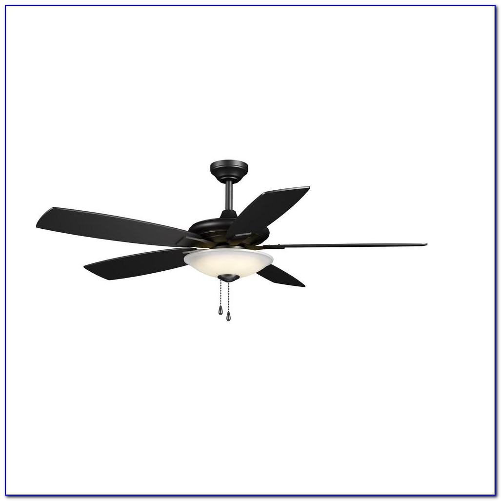 Hampton Bay Mercer 52 In. Matte Black Ceiling Fan