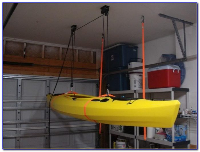 Hang Kayak From Garage Ceiling