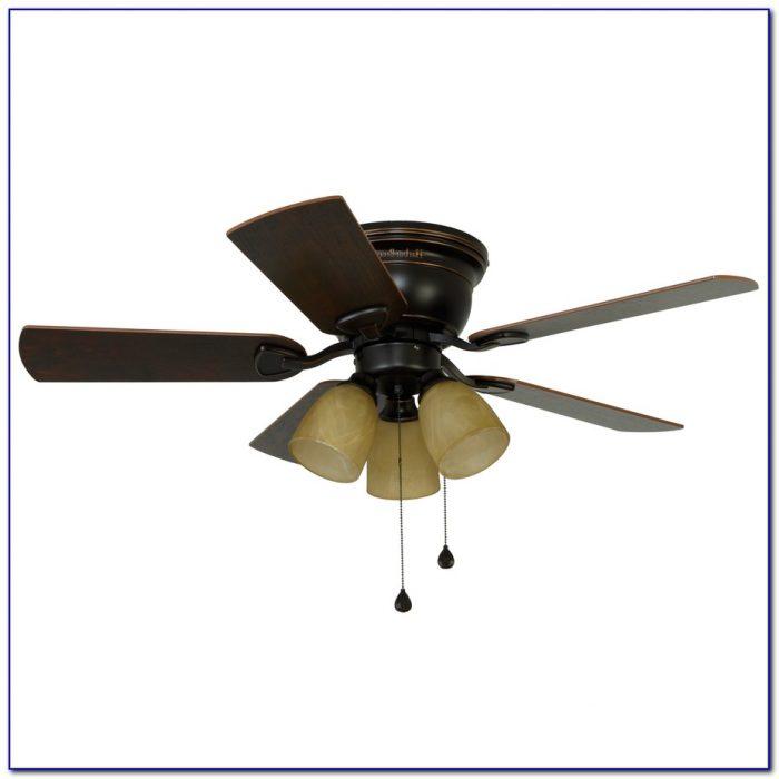 Hunter 42 Inch Flush Mount Ceiling Fan With Light