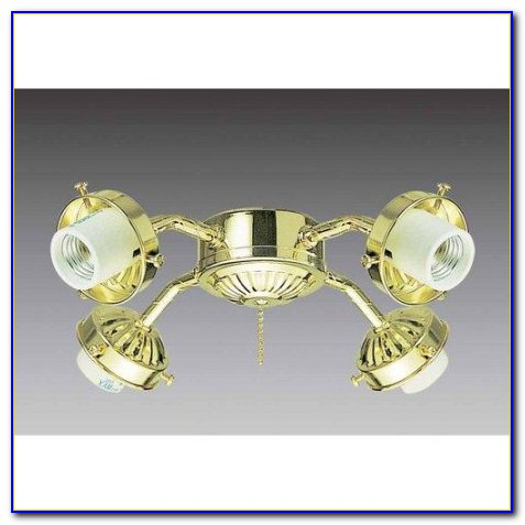 Hunter Polished Brass Ceiling Fan Light Kit