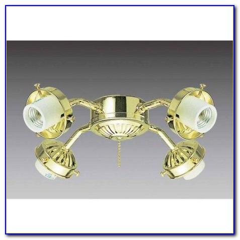 Hunter Polished Brass Ceiling Fan Light Kit