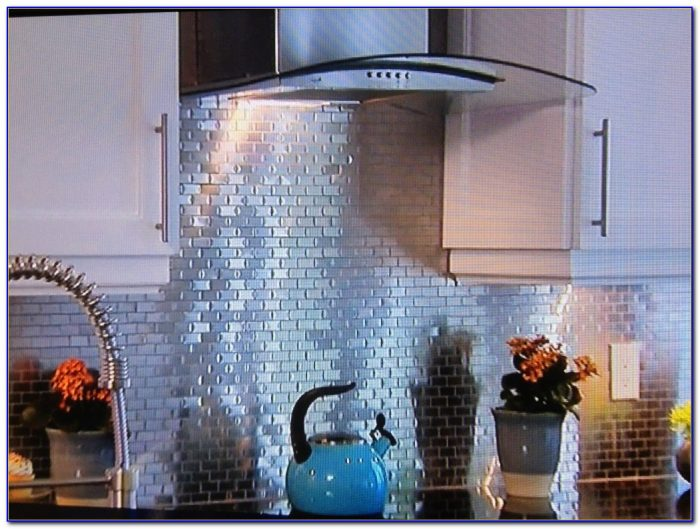 Installing Tin Ceiling Tiles As A Backsplash
