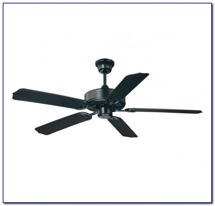 Matte Black Ceiling Fan With Remote