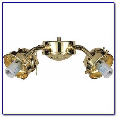 Polished Brass Ceiling Fan Light Kits
