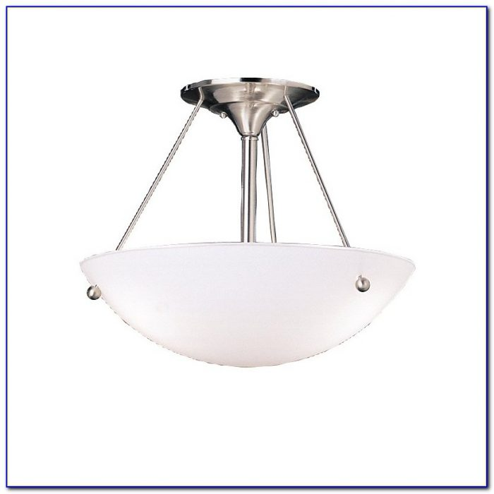 Polished Nickel Semi Flush Ceiling Light