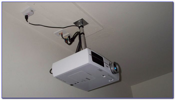Projector Screen Mount For Drop Ceiling