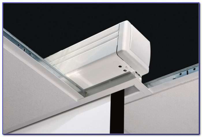 Recessed Ceiling Projector Screen Installation