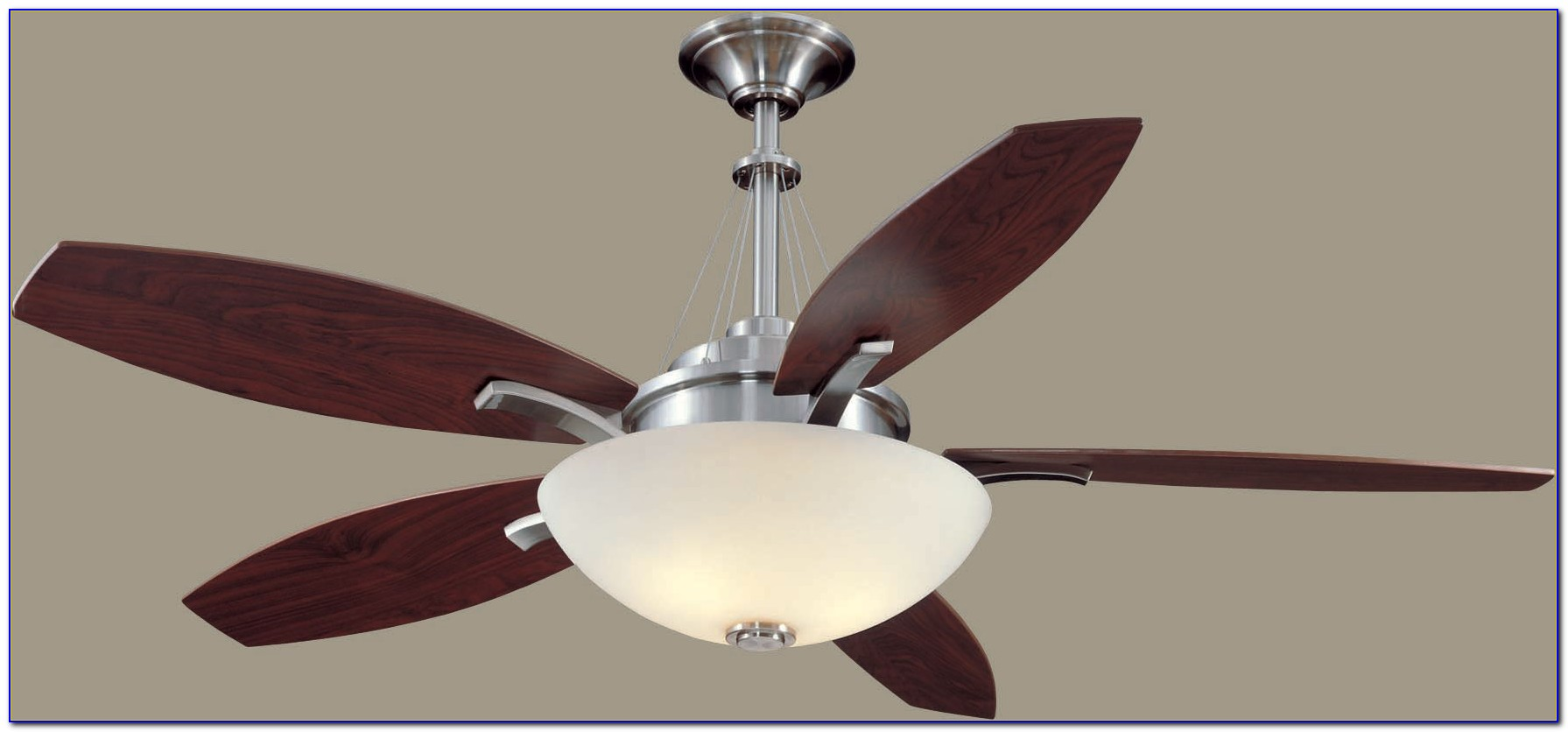 Retro Brushed Nickel Ceiling Fan Light Kit
