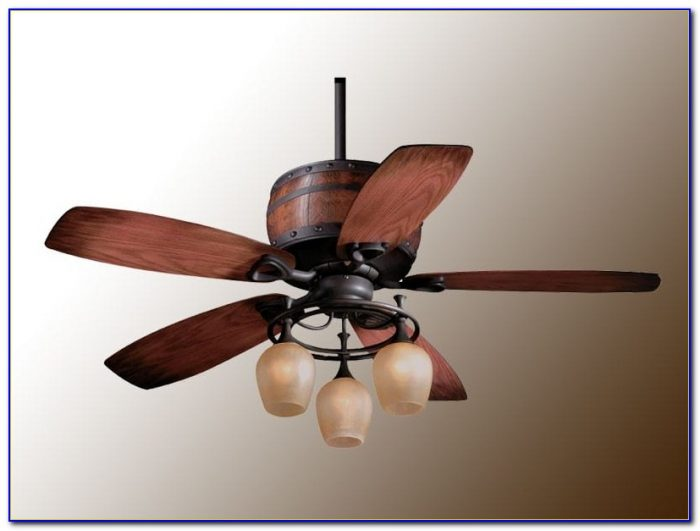 Rustic Flush Mount Ceiling Fans With Lights