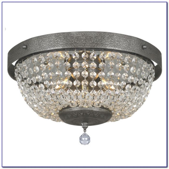 Semi Flush Crystal Ceiling Lights