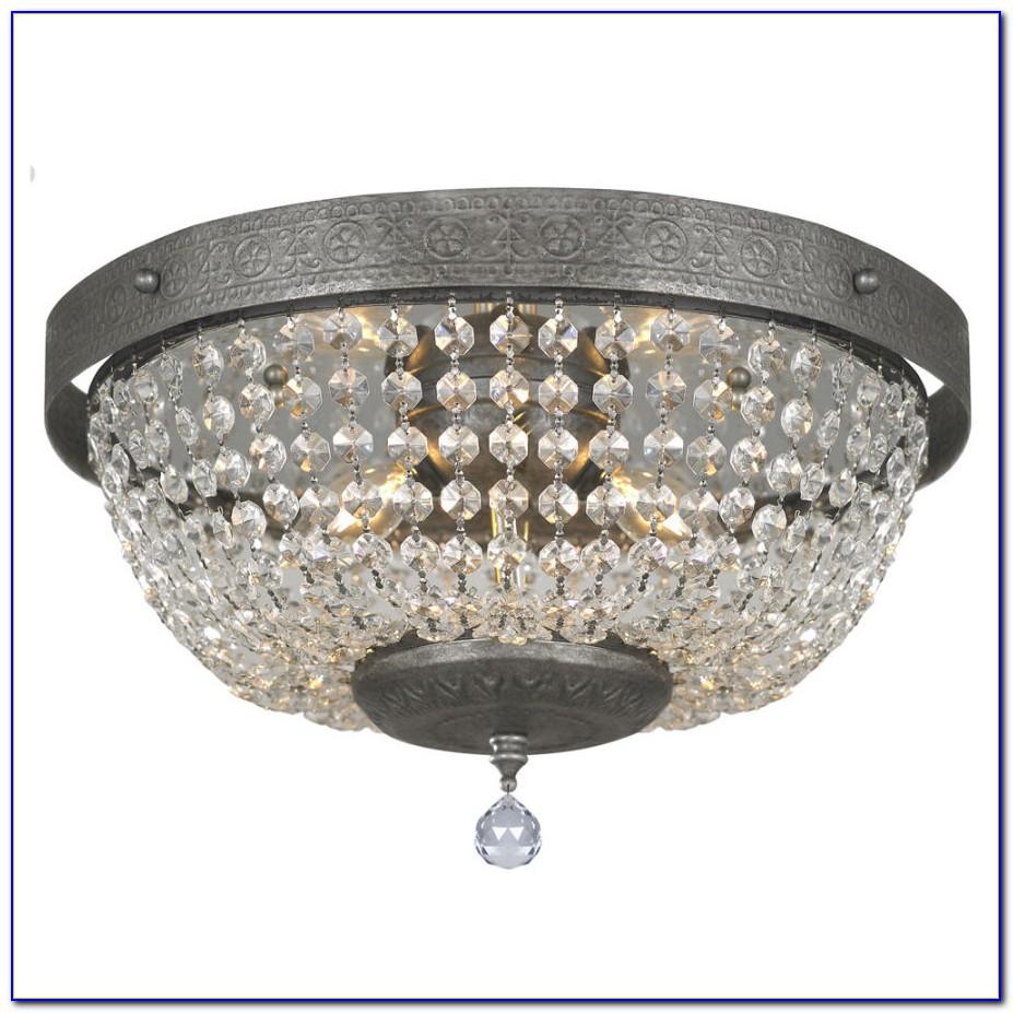 Semi Flush Crystal Ceiling Lights