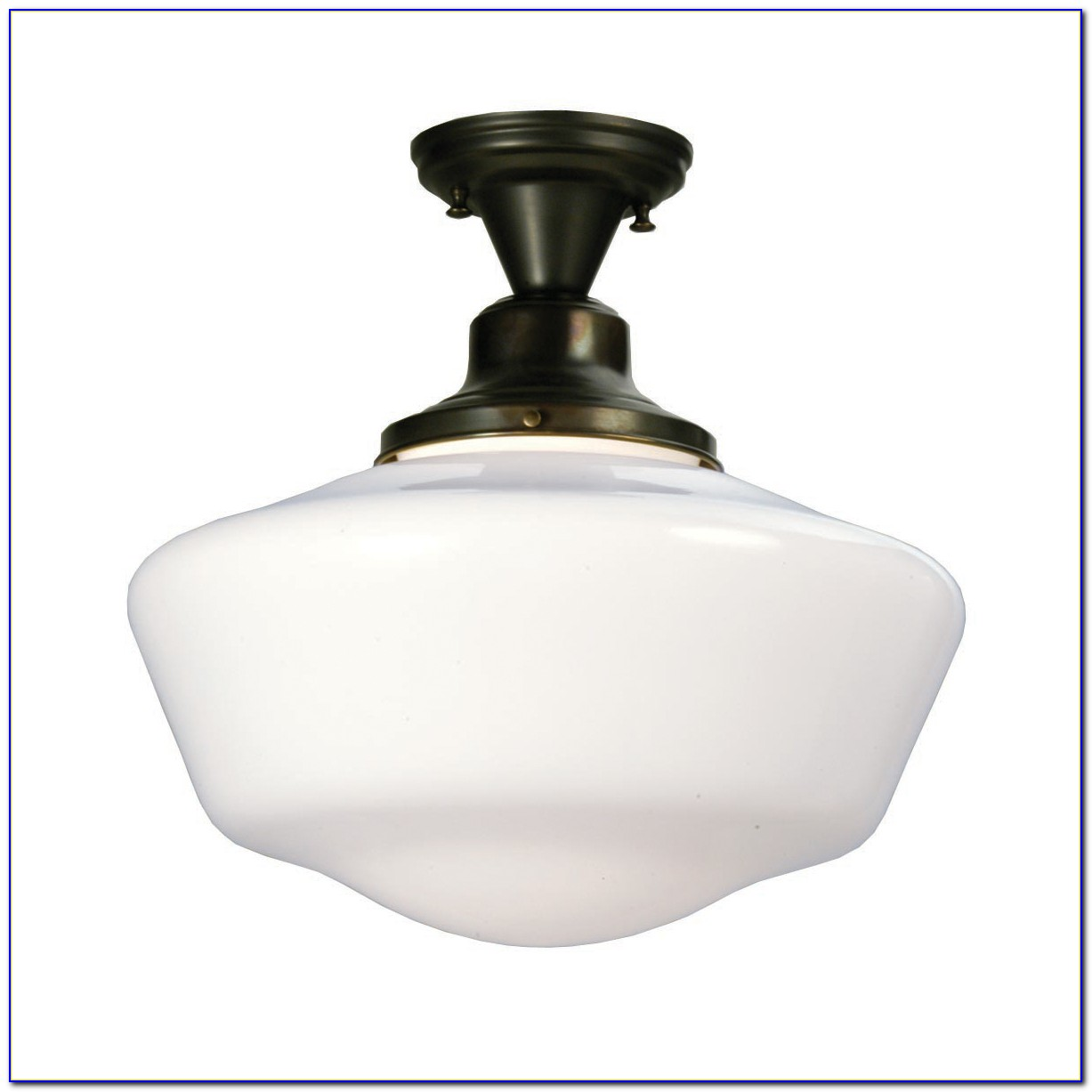 Semi Flush Mount Schoolhouse Lighting
