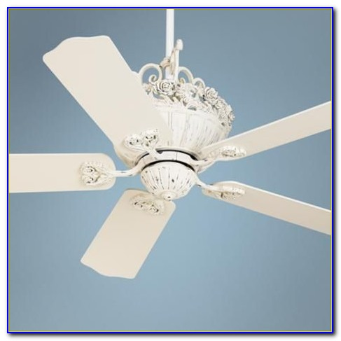 Shabby Chic White Ceiling Fans