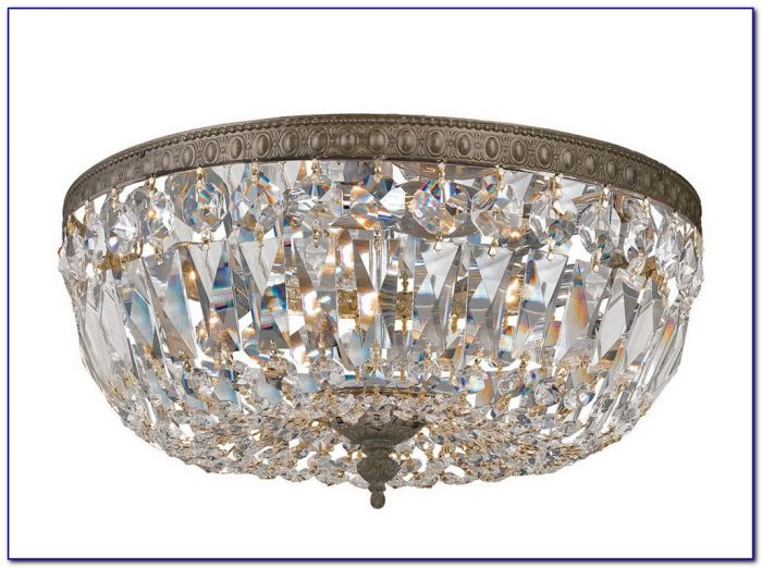 Small Crystal Ceiling Light Fixture