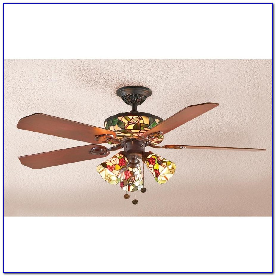 Stained Glass Ceiling Fan Light Kit