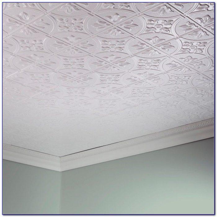 Styrofoam Ceiling Tiles Glue Up
