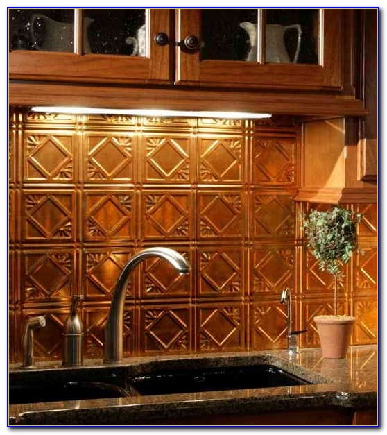 Tin Ceiling Panels Backsplash