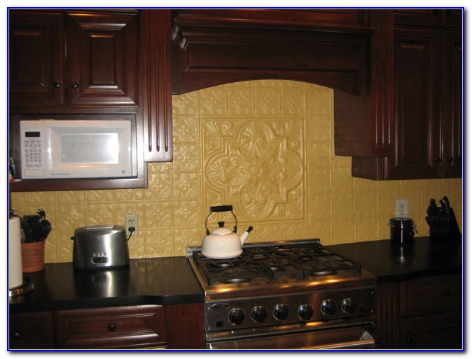 Tin Ceiling Tile Backsplash