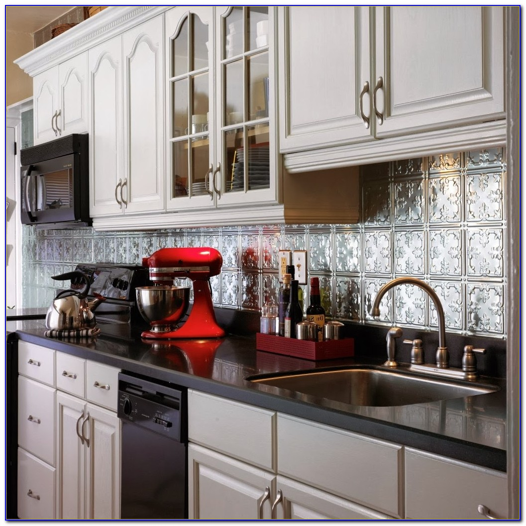 Tin Ceiling Tiles Backsplash