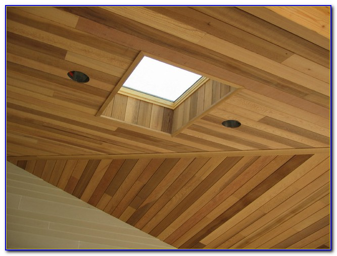 Tongue In Groove Cedar Ceiling