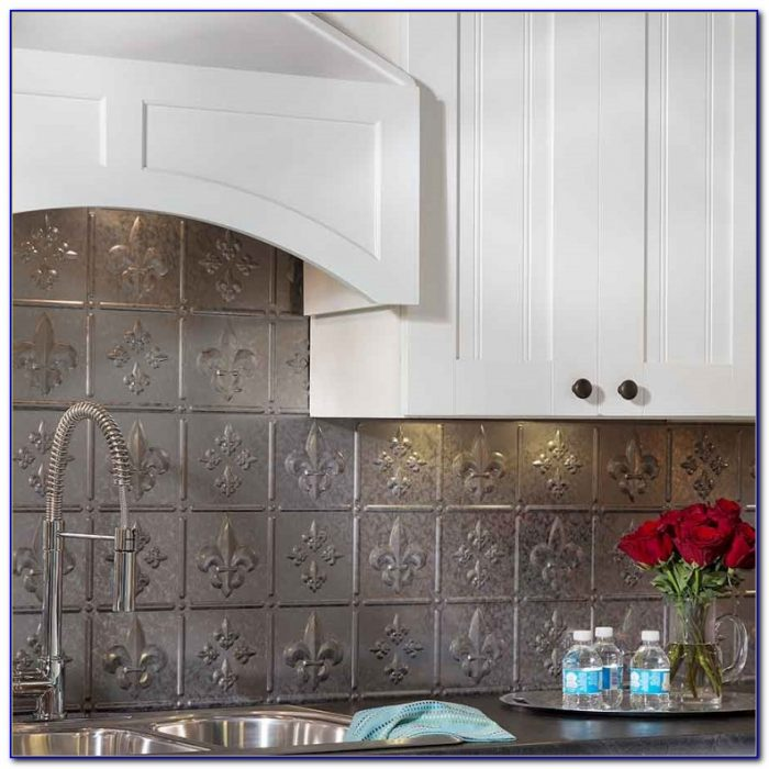 Using Tin Ceiling Tiles Kitchen Backsplash