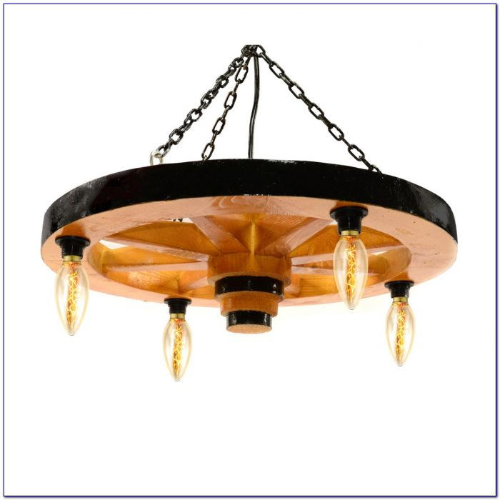 Wagon Wheel Ceiling Light Fixture