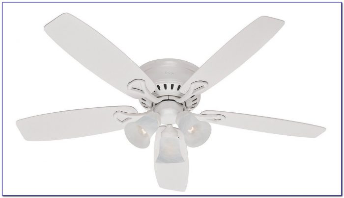 White Hunter Ceiling Fans With Lights